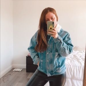 Faux Fur Lined Jean Jacket from American Eagle